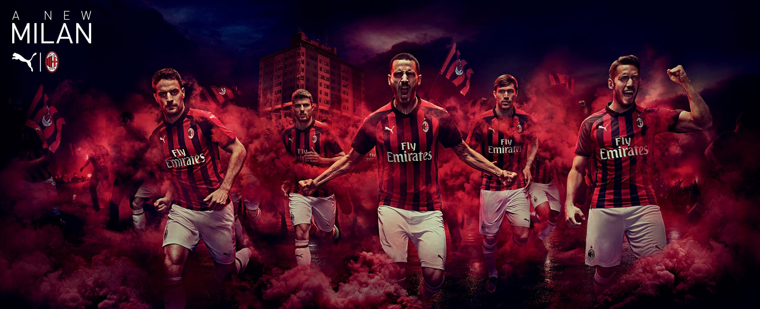 22fd6ddcb Puma reveal AC Milan's 2018/19 home kit and merchandise