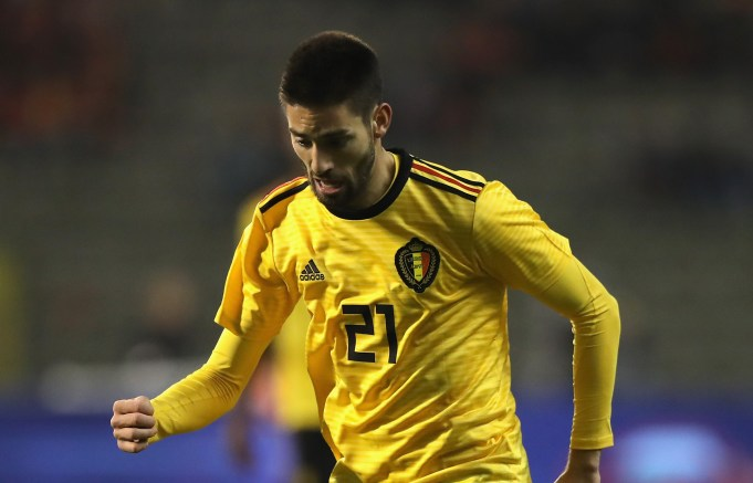 during the international friendly match between Belgium and Saudi Arabia at the King Baudouin Stadium on March 27, 2018 in Brussels, Belgium.
