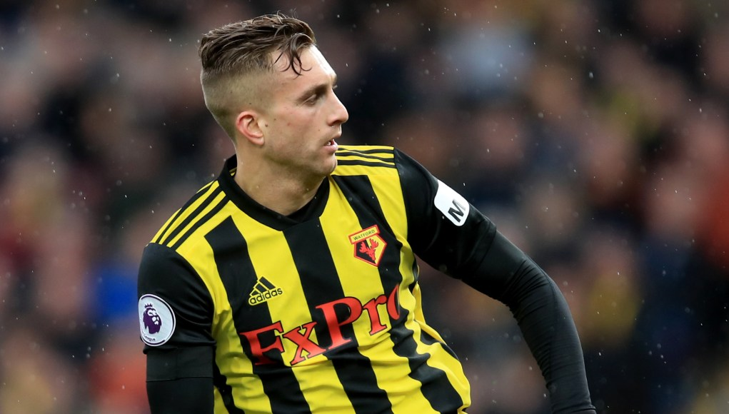 WATFORD, ENGLAND - FEBRUARY 09: Gerard Deulofeu of Watford during the Premier League match between Watford FC and Everton FC at Vicarage Road on February 9, 2019 in Watford, United Kingdom. (Photo by Marc Atkins/Getty Images)
