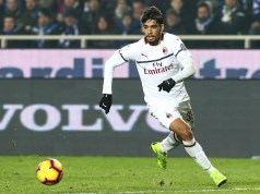 BERGAMO, ITALY - FEBRUARY 16: Lucas Paqueta of AC Milan in action during the Serie A match between Atalanta BC and AC Milan at Stadio Atleti Azzurri d'Italia on February 16, 2019 in Bergamo, Italy. (Photo by Marco Luzzani/Getty Images)