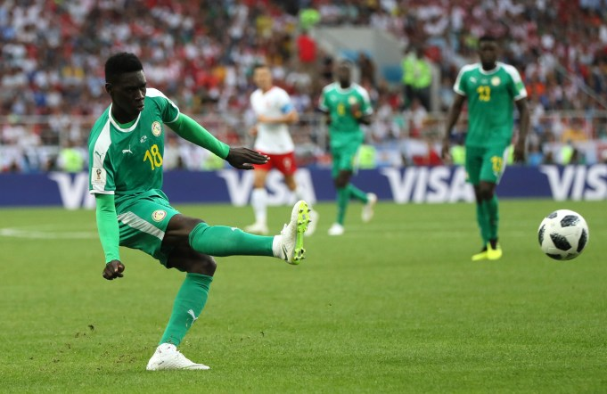 MOSCOW, RUSSIA - JUNE 19: Ismaila Sarr of Senegal in action during the 2018 FIFA World Cup Russia group H match between Poland and Senegal at Spartak Stadium on June 19, 2018 in Moscow, Russia. (Photo by Kevin C. Cox/Getty Images)