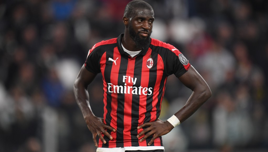 TURIN, ITALY - APRIL 06: Tiemoue Bakayoko of Milan shows his dejection during the Serie A match between Juventus and AC Milan on April 06, 2019 in Turin, Italy. (Photo by Tullio M. Puglia/Getty Images)