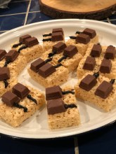 Rice Krispie Piano Keys snack made by student