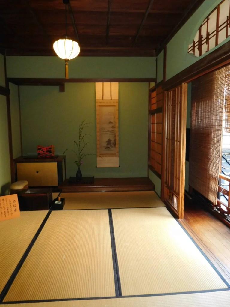 Sala da the giapponese interno