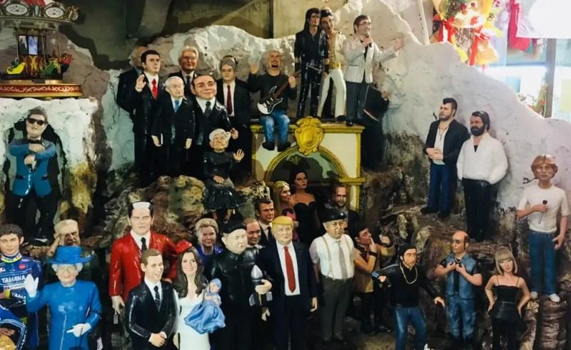 Attori, cantanti, politici, reali e molto altri: sono le statuine moderne del presepe napoletano.