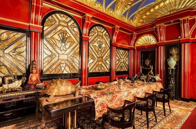 La sala da pranzo del vittoriale