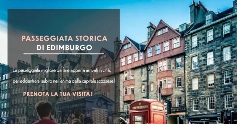 Pubblicità passeggiata storica di Edimburgo