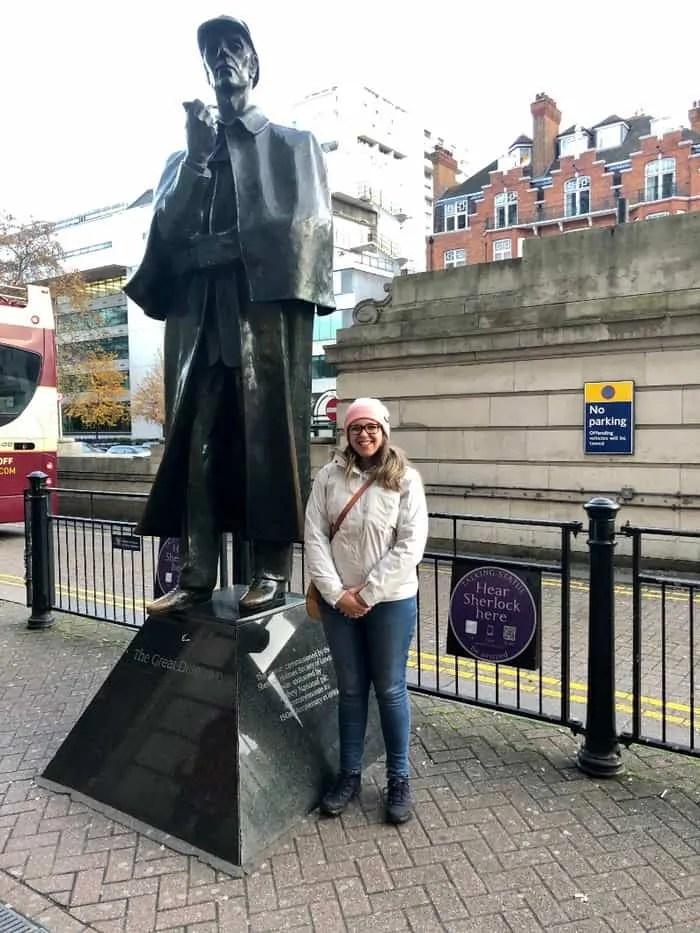 La Statua di Sherlock Holmes a Londra