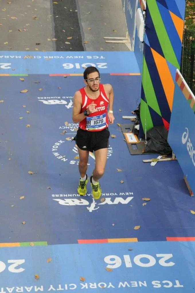 Carlo Masoero durante la corsa a new york