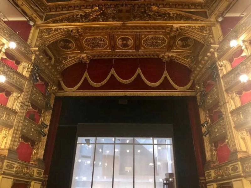 Il palco del Teatro Carignano