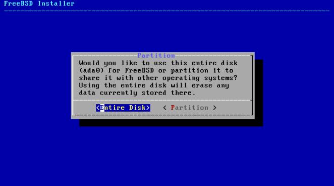 FreeBSD - disco de partição