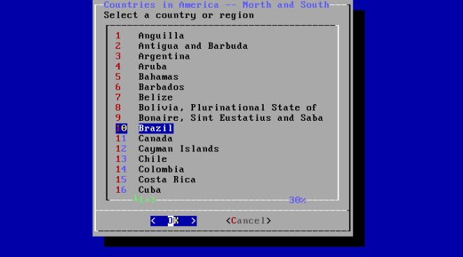 FreeBSD - configuração de fuso horário país