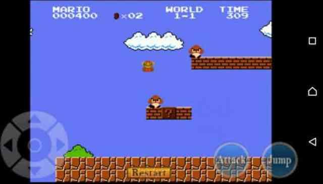 Super Mario em execução