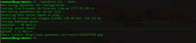 testar velocidade da internet no linux
