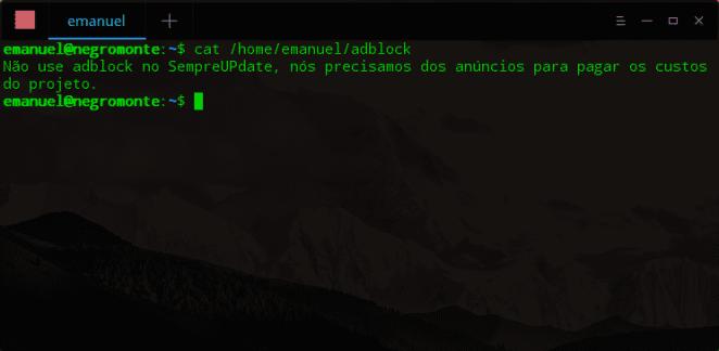 Administração de Sistemas Linux – Comandos úteis-terminal