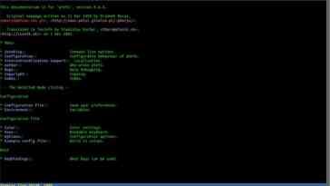 Pinfo, ferramenta CLI para dar cor as páginas do man e de informações
