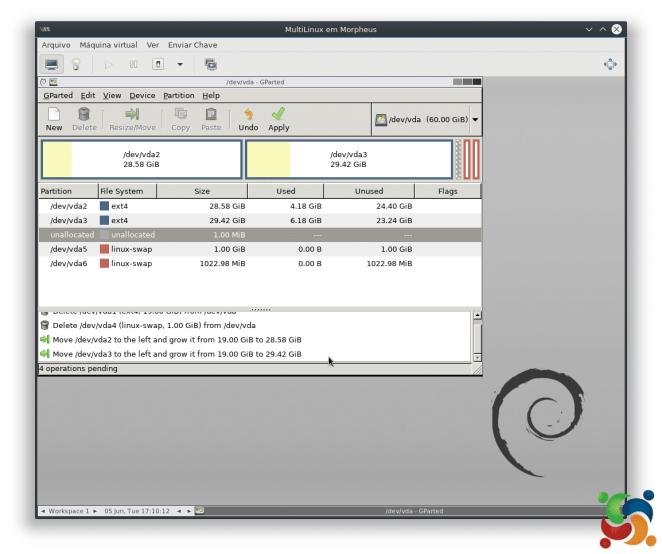 MultiLinux - GParted - GParted 10