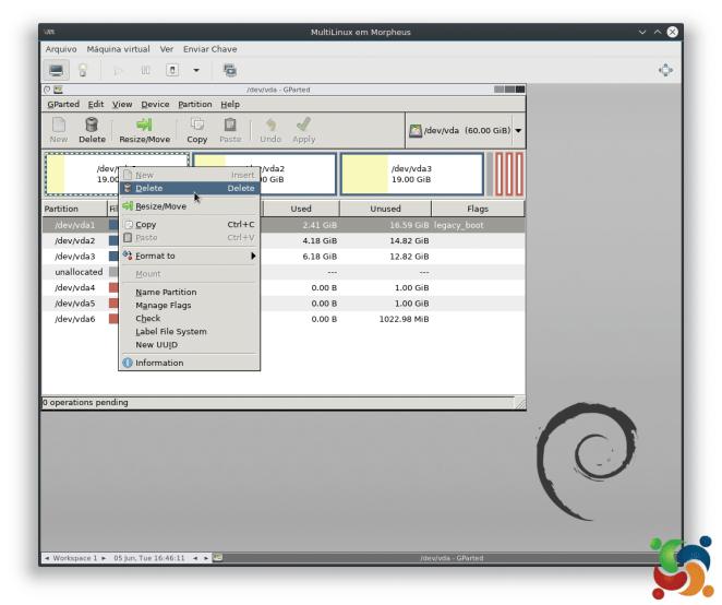 MultiLinux - GParted - GParted 2