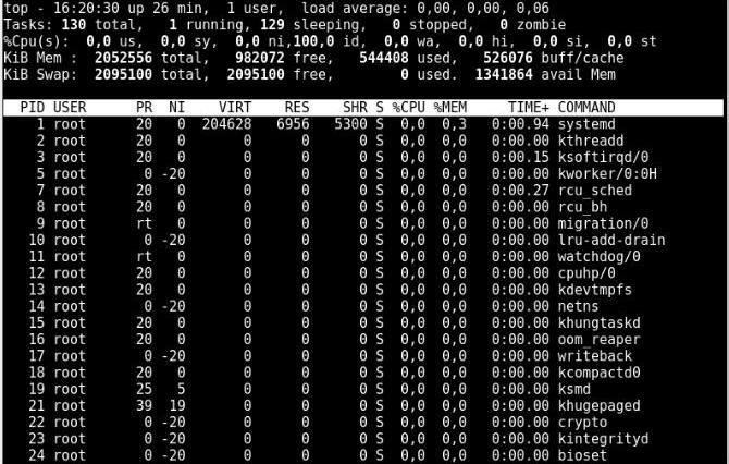 000 - Explicação do comando top em sistemas Linux