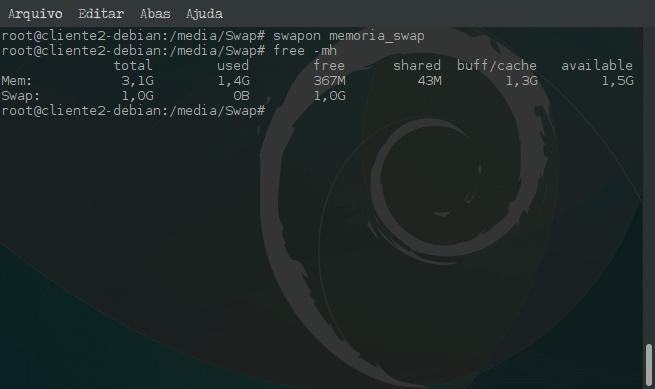 Criar arquivo de memória Swap e ativar no sistema - swapon