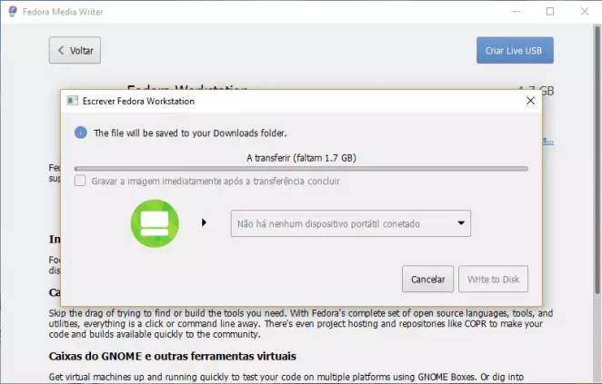 Como usar o Fedora Media Writer no Windows e criar um pendrive com o Fedora