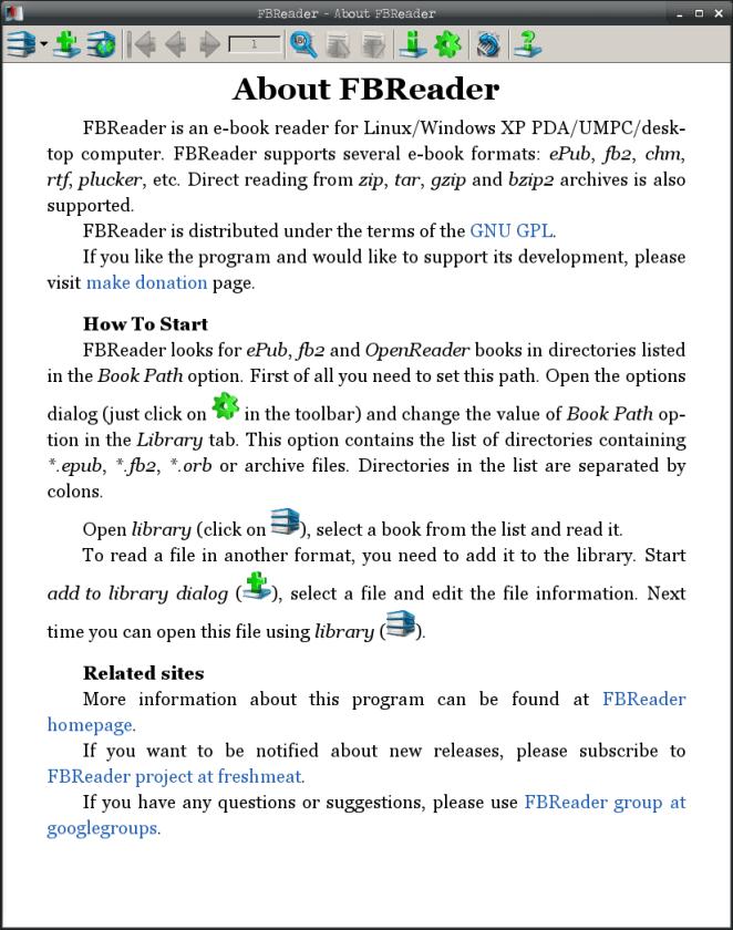 Instalar leitor de e-books no Debian - FBReader