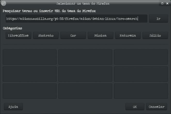 Como adicionar tema no LibreOffice - Opções do LibreOffice Personalização url