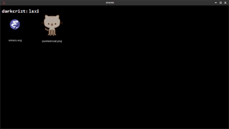 Lsix, uma variante do ls para exibir imagens no terminal