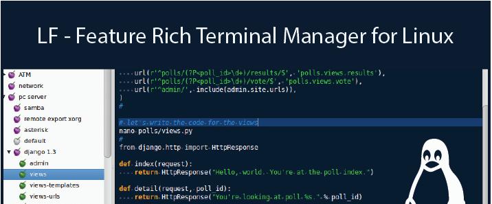 LF - Um gerenciador de arquivos Nifty Terminal para sistemas Linux