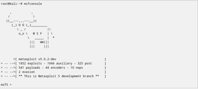 Nova versão do Kali Linux vem com Metasploit 5.0
