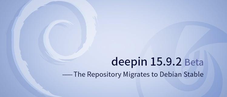 Deepin 15.9.2 beta é alterado para Debian Stable