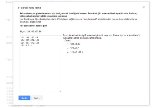 Adwords IP exclusion