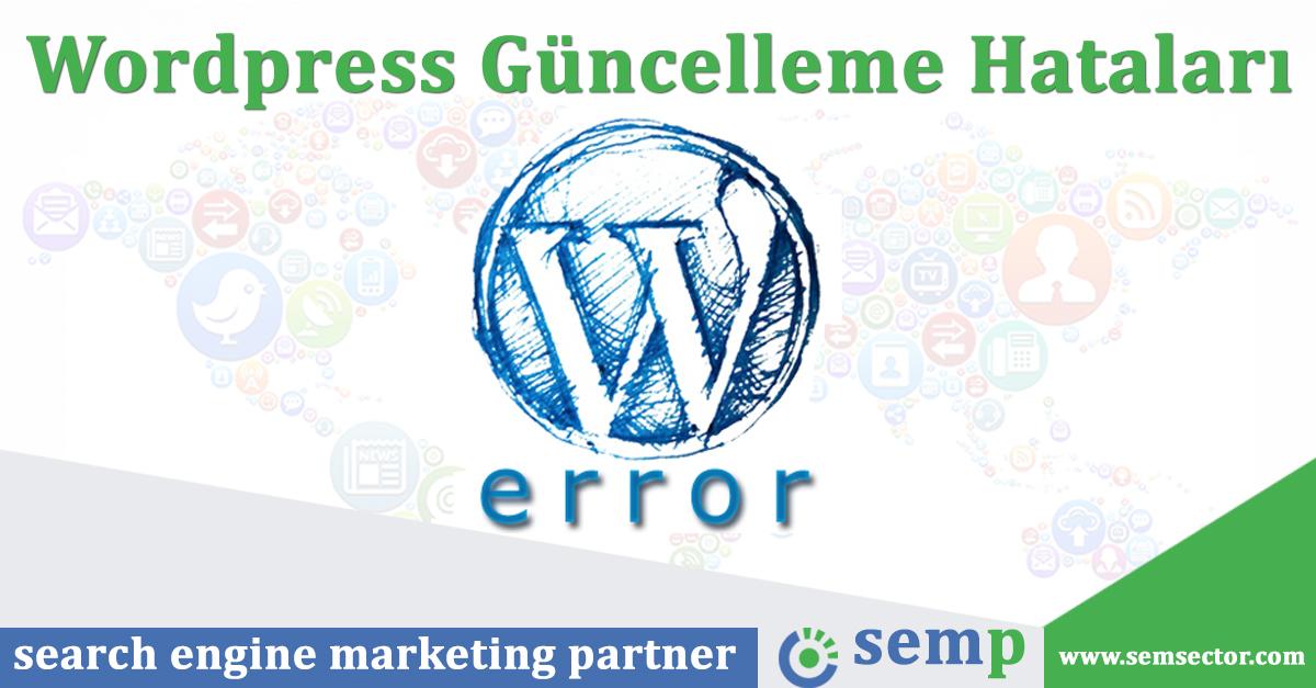 wordpress guncelleme hatalari