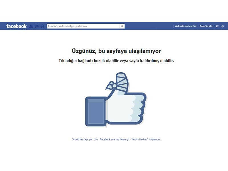 Facebook 404 Sayfası