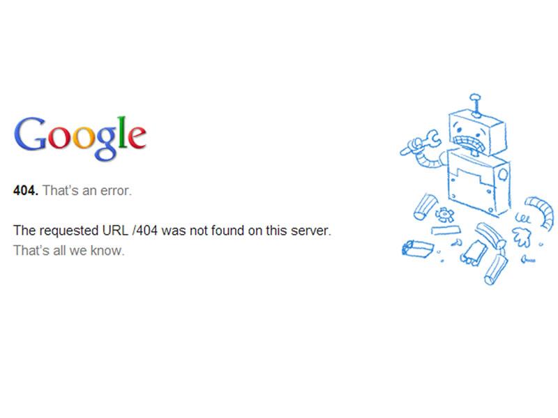 Google 404 Sayfası