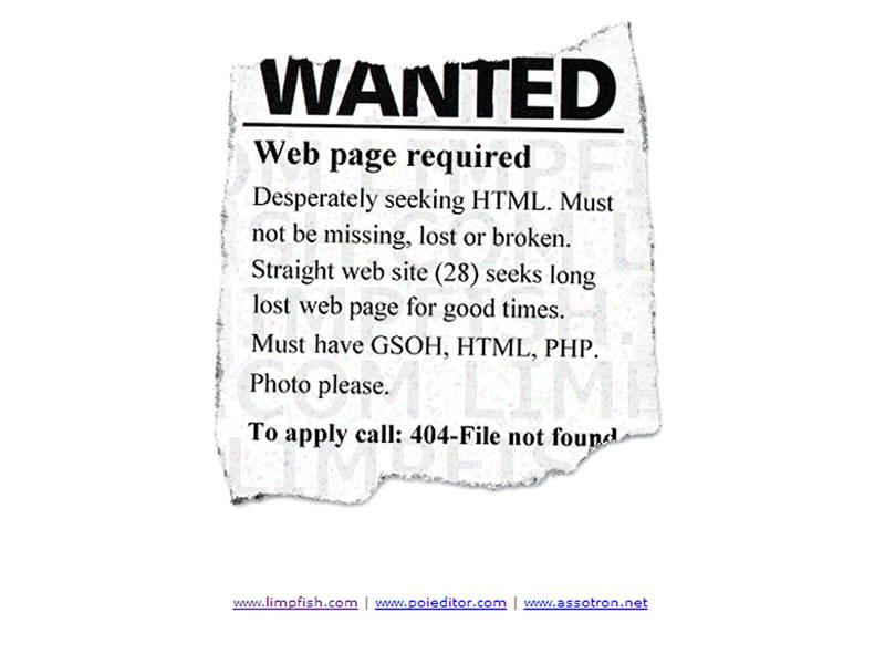 limpfish 404 Sayfası