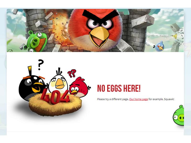 rovio 404 sayfası