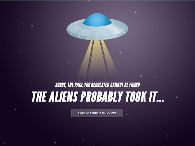 snakes in space 404 sayfası