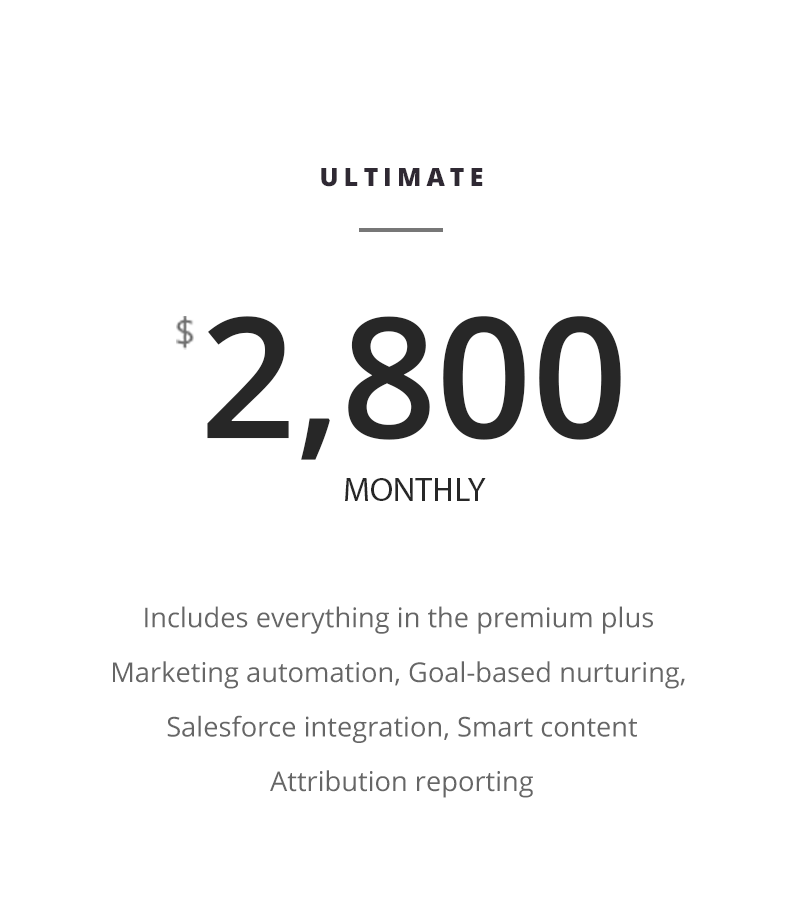 Marketing Price Plan ultimate