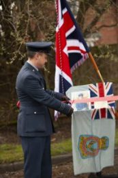 Wg Cdr Pass opens the Flt Lt Joe Clark RAF VRT Heritage Classroom