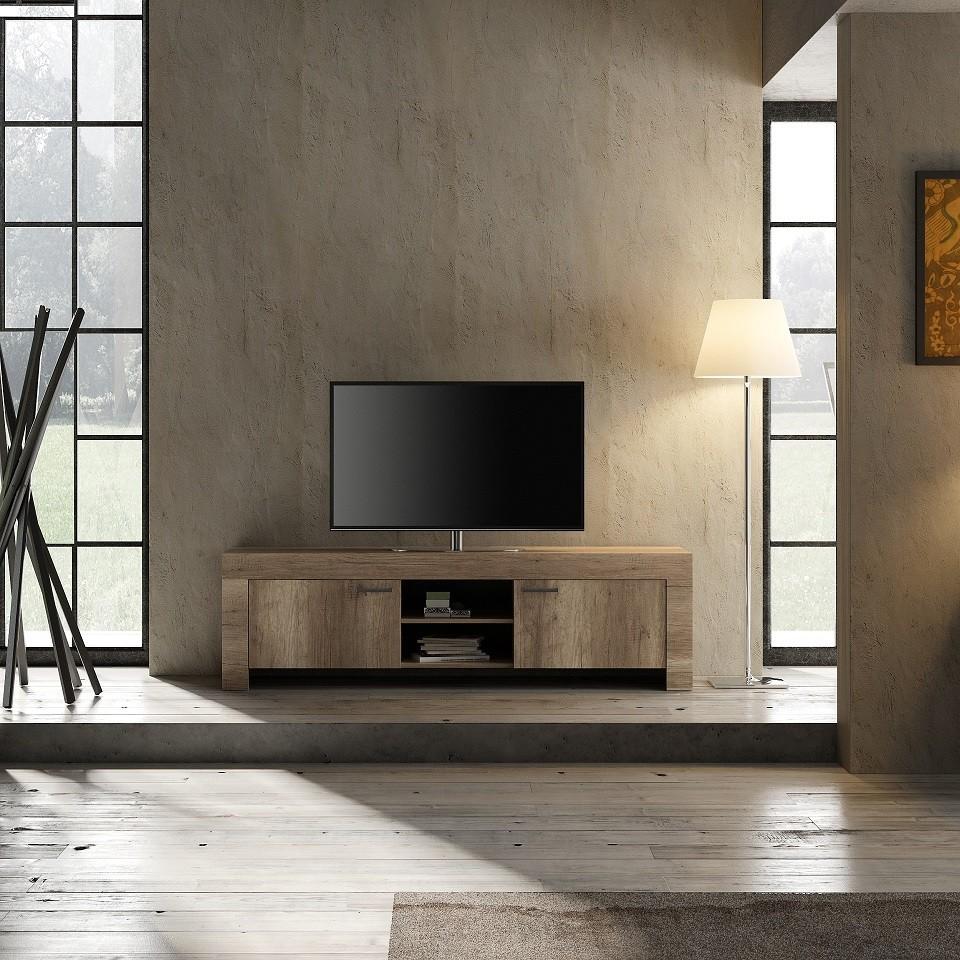 capri 180cm tv stand in canyon oak finish