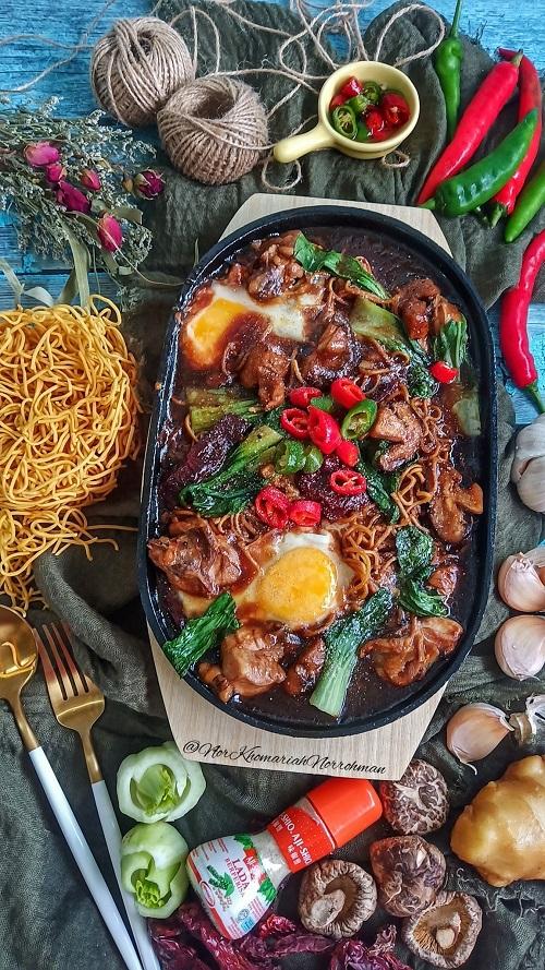 Resepi Sizzling Yee Mee Ayam Dan Cendawan