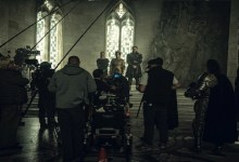 Filmando no set de The Witcher