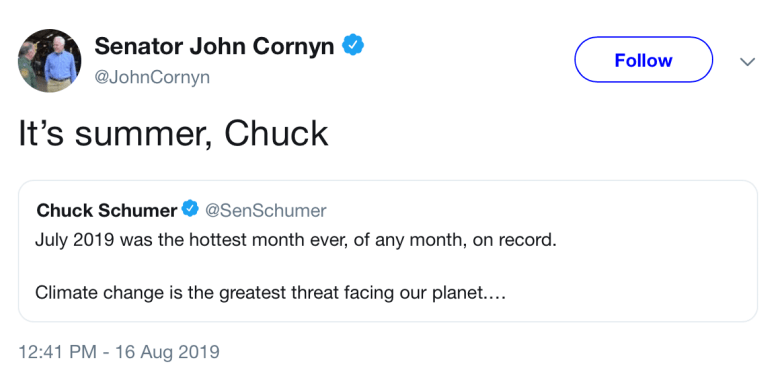 It's summer chuck bad tweet by john effing cornyn