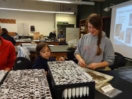 Kelly and Katie Quigley participate in a native seed propagation workshop. Photo by Linda Fuselier.