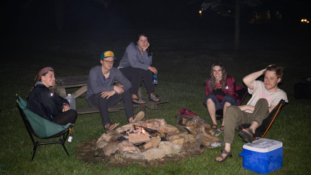 friends bonfire