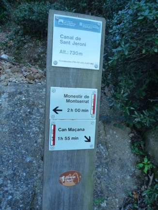 Pal indicador Canal de Sant Jeroni