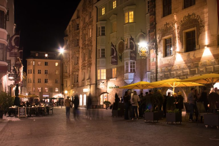 Innsbruck at night 1