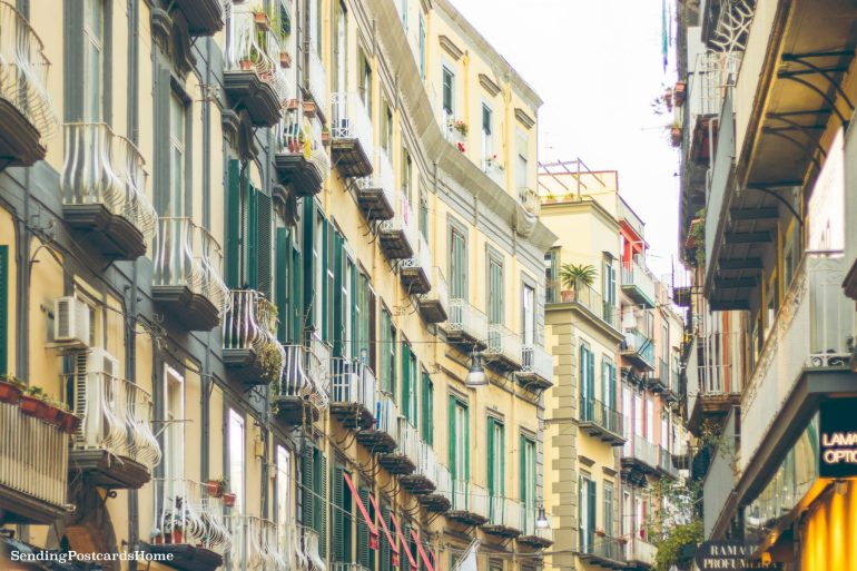 Postcard from Naples & the best pizza places - Napoli Street view, Italy