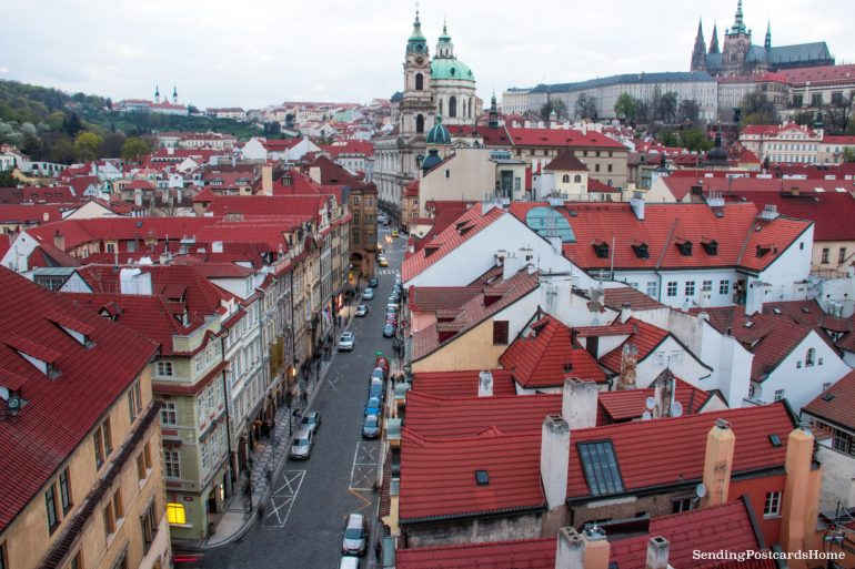 Prague roof top view